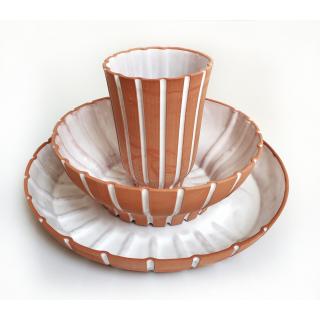 שורשים: סט צלחת - קערה - כוס