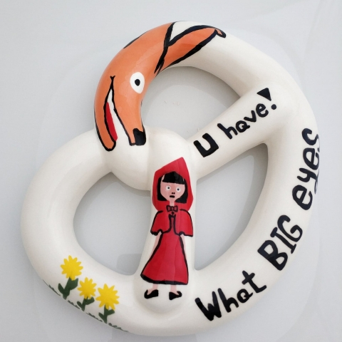 Little Red Riding Hood - bagel for hanging on a wall