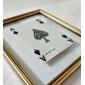 A porcelain porcelain card with Swarovski stones
